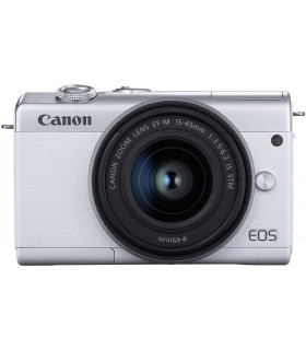 Canon EOS M200 + EF-M 15-45mm IS STM, white