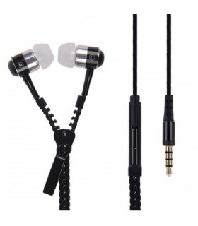 Zip Earphones -Black