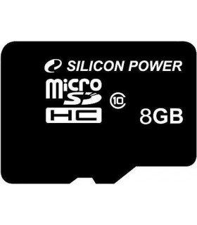 Silicon Power memory card microSDHC 8GB Class 10