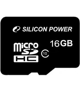 Silicon Power memory card microSDHC 16GB Class 10