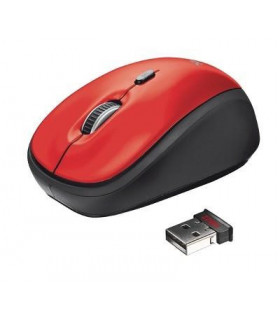 MOUSE USB OPTICAL WRL YVI/RED 19522 TRUST
