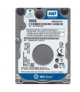 HDD  WESTERN DIGITAL  Blue  500GB  SATA 3 0  16 MB  5400 rpm  2,5   Thickness 7mm  WD5000LPCX